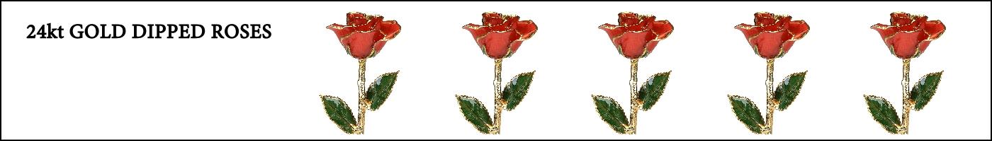 24K Gold Dipped Roses