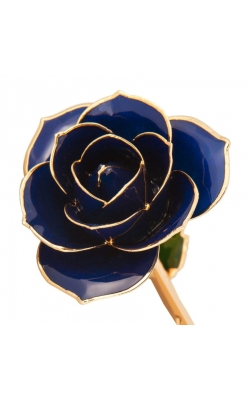 Midnight Blue 24K Gold Dipped Rose product image