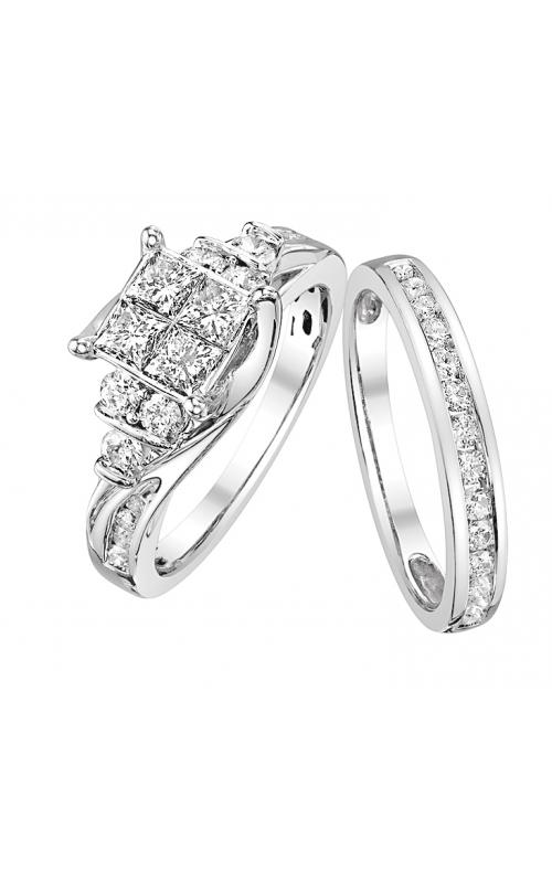 Beautiful Bride Quad Princess-Cut Diamond Bridal Set in 14k White Gold, 1-1/2ctw product image