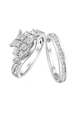 Beautiful Bride Quad Princess-Cut Diamond Bridal Set In 14k White Gold, 1-1/2ctw product image