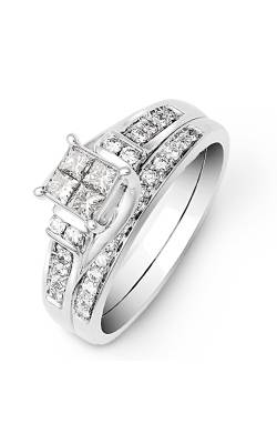 Beautiful Bride Quad Princess-Cut Bridal Set In White Gold, 1/2ctw product image