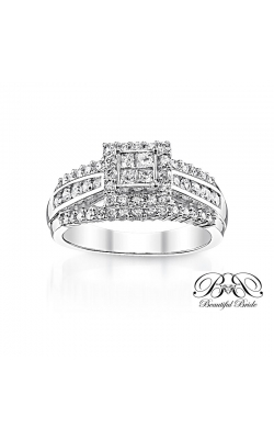 Beautiful Bride Quad Princess-Cut Diamond Engagement Ring In White Gold, 1ctw product image