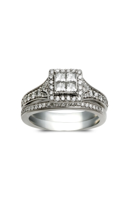Beautiful Bride Quad Princess-Cut Engagement Ring in White Gold, 7/8ctw product image