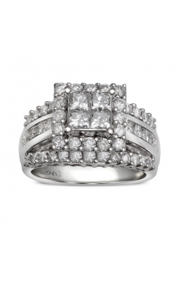 Beautiful Bride Quad Princess-Cut Engagement Ring In 14k White Gold, 2ctw product image