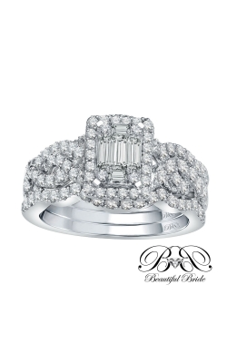 Beautiful Bride Multi-Stone Baguette Diamond Bridal Set In 14K White Gold, 1-1/2ctw product image