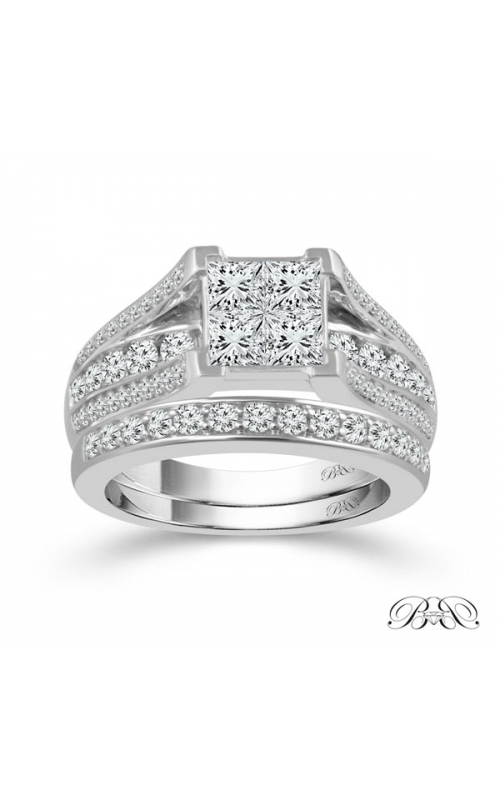 Beautiful Bride Quad Princess-Cut Diamond Bridal Set in White Gold, 1ctw product image