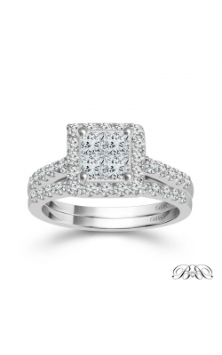 Beautiful Bride Princess-Cut Quad Diamond Bridal Set In White Gold, 5/8ctw product image