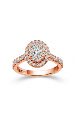 Beautiful Bride Diamond Cluster Halo Engagement Ring In Rose Gold, 1ctw product image