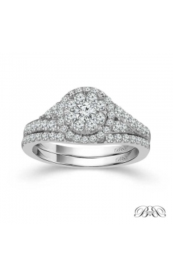 Beautiful Bride Diamond Cluster Round-Halo Bridal Set In 14K White Gold, 1ctw product image