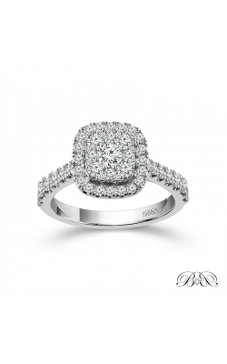 Beautiful Bride Diamond Cushion-Shaped Cluster Halo Engagement Ring In White Gold, 1ctw product image