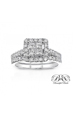 Beautiful Bride Quad Princess-Cut Diamond Bridal Set in 14K White Gold, 1-1/4ctw product image