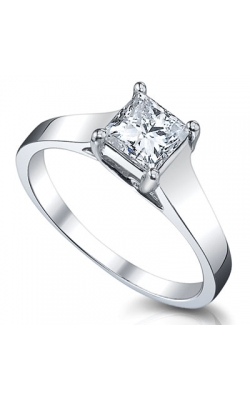 1 Carat Bella Princess-Cut Diamond Solitaire Ring in 14K White Gold product image