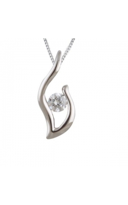 Bella Diamond Collection Passion Flame Diamond Pendant in Sterling Silver, 1/20ctw product image