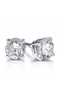 Bella Round Brilliant Diamond Solitaire Stud Earrings in 14K White Gold, 1/4ctw product image