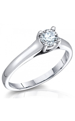 1 Carat Bella Round Brilliant Diamond Solitaire Ring in 14K White Gold product image