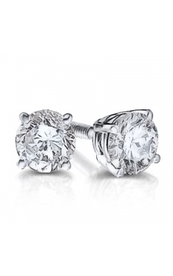 Bella Round Brilliant Diamond Solitaire Stud Earrings in 14K White Gold, 3/4ctw product image