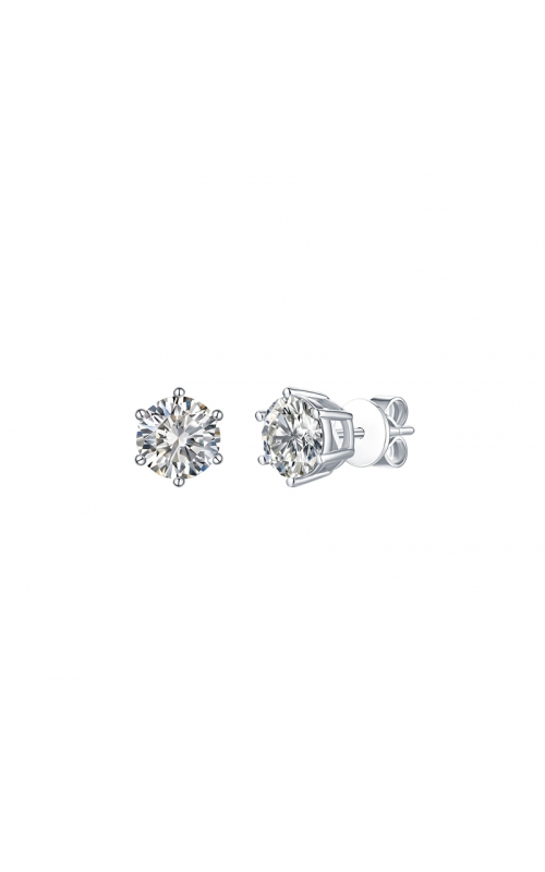 FLASHPOINT CREATED DIAMOND STUD EARRINGS, 14KWG, 2CTW product image