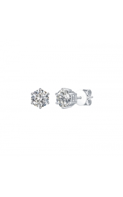 FLASHPOINT CREATED DIAMOND STUD EARRINGS, 14KWG, 1CTW product image