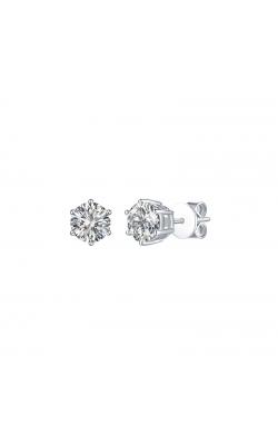 FLASHPOINT CREATED DIAMOND STUD EARRINGS, 14KWG, 1 1/2CTW product image