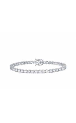 FIVE CARAT TOTAL WEIGHT FLASHPOINT CREATED DIAMOND TENNIS BRACELET 14KWG, 5CTW product image