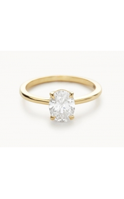 1 CARAT OVAL FLASHPOINT CREATED DIAMOND SOLITAIRE, 14KYG, 1CTW product image