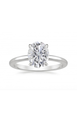 2 CARAT FLASHPOINT CREATED OVAL DIAMOND SOLITAIRE, 14KWG, 2CTW product image