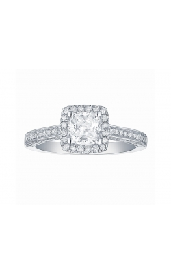 FLASHPOINT CREATED DIAMOND HALO ENGAGEMENT RING, 14KWG, 1 1/2CTW product image