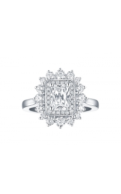FLASHPOINT CREATED DIAMOND HALO ENGAGEMENT RING, 14KWG, 2CTW product image