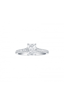 FLASHPOINT CREATED EMERALD DIAMOND ENGAGEMENT RING, 14KWG, 1 1/4CTW product image