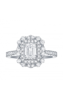 FLASHPOINT CREATED EMERALD DIAMOND HALO ENGAGEMENT RING, 14KWG, 1 3/4CTW product image