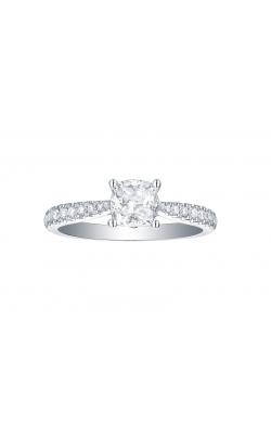 FLASHPOINT CREATED CUSHION-CUT DIAMOND ENGAGEMENT RING, PAVE SIDE STONES WITH A 1 CARAT CENTER, 14KWG, 1 3/8CTW product image