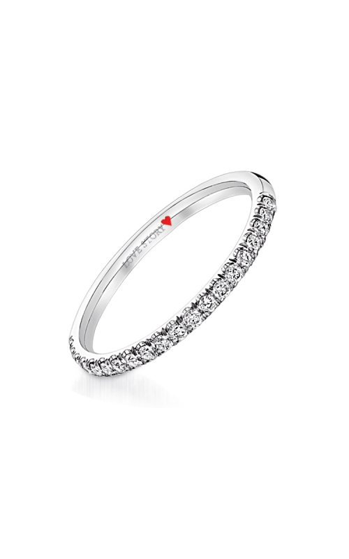 Love Story Pave Diamond Anniversary Band in 14K White Gold, 1/4ctw product image
