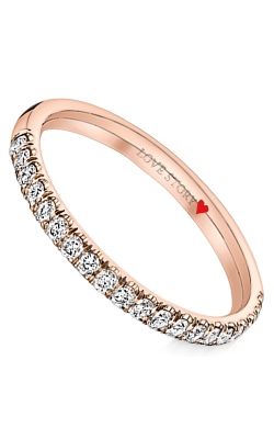Love Story Pave Diamond Anniversary Band in 14K Rose Gold, 1/4ctw product image