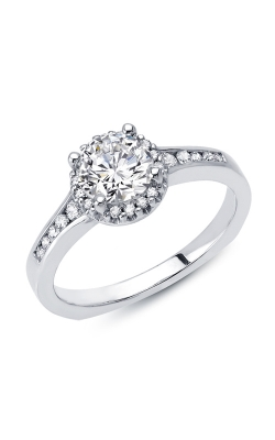 Love Story Diamond Engagement Semi-Mount in 14K White Gold, 1/5ctw product image