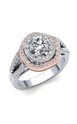 Love Story Diamond Engagement Semi-Mount In 14K Two-Tone Gold, 1/2ctw product image