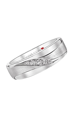 Love Story Diamond Men's Band in 14K White Gold, 1/10ctw product image
