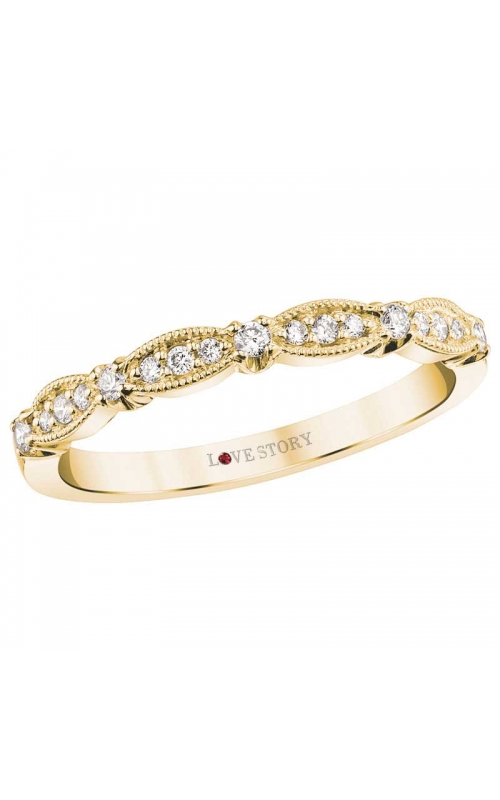 Love Story Diamond Band in 14K Yellow Gold, 1/6ctw product image