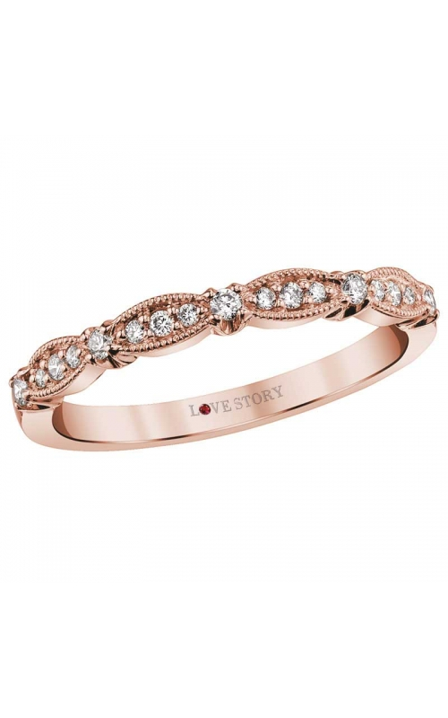 Love Story Diamond Band in 14K Rose Gold, 1/6ctw product image