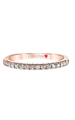 Love Story Diamond Anniversary Band In 14K Rose Gold, 1/5ctw product image