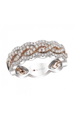 Love Story Infinity Diamond Band in 14K Two-Tone Gold, 5/8ctw product image