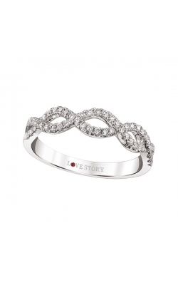 Love Story Infinity Diamond Band in 14K White Gold, 1/4ctw product image