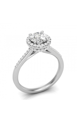 Love Story Halo Diamond Engagement Semi-Mount In 14K White Gold, 1/3ctw product image