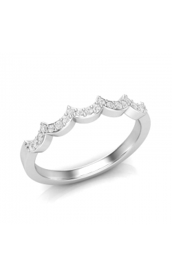 Love Story Crown Diamond Anniversary Band in 14K White Gold, 1/8ctw product image