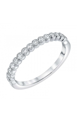 Love Story Vintage-Style Diamond Anniversary Band In 14k White Gold, 1/4ctw product image