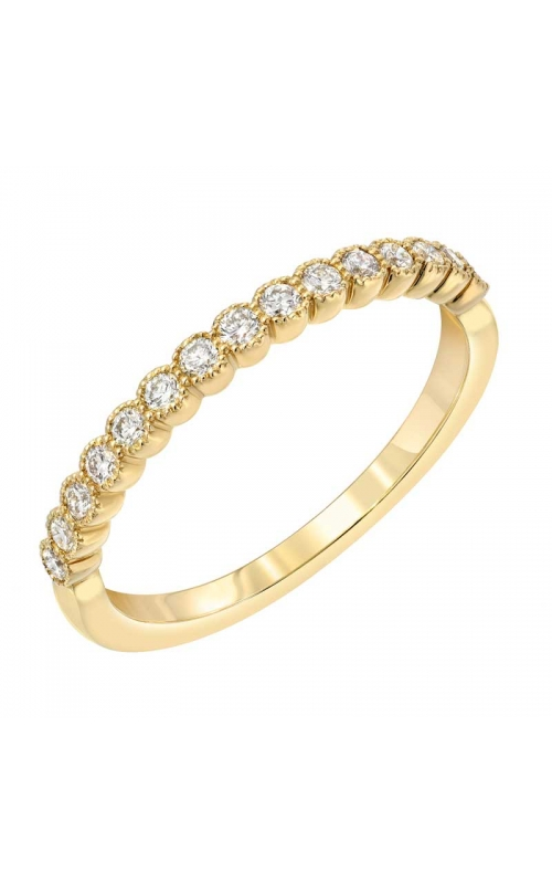 Love Story Vintage-Style Diamond Anniversary Band in 14k Yellow Gold, 1/4ctw product image