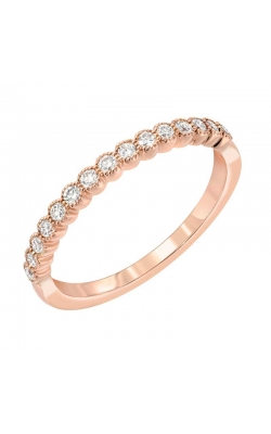 Love Story Vintage-Style Diamond Anniversary Band In 14k Rose Gold, 1/4ctw product image