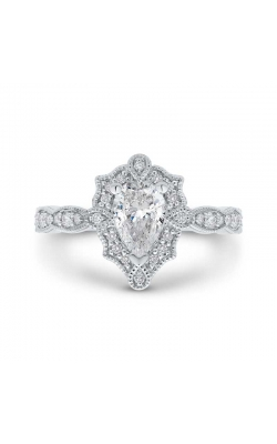 Love Story Vintage-Style Pear-Shaped Diamond Engagement Ring In 14k White Gold, 3/4ctw product image