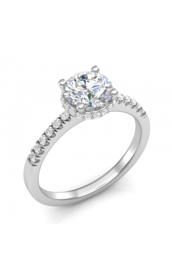 Love Story Classic Diamond Semi-Mount Engagement Ring in 14K White Gold, 1/5ctw product image