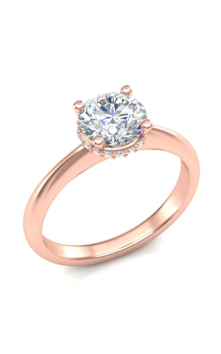 Love Story Classic Diamond Semi-Mount Engagement Ring in 14K Rose Gold, 1/10ctw product image