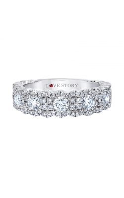 Love Story Multi-Row Diamond Anniversary Band in 14K White Gold, 3/4ctw product image